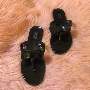 Coach ~ Jelly Flip Flops with Bow